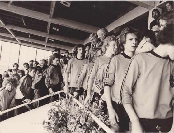 Na afloop jeugdinterland Nederland –Duitsland 1976